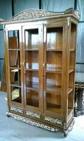 Furniture Almari hias pajangan berbahan dari kayu jati irawan mebel