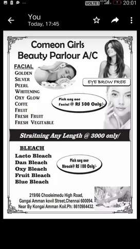 Any facial only 300