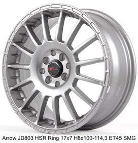 jualan ARROW JD803 HSR R17X7 H8X100-114,3 ET45 SMG
