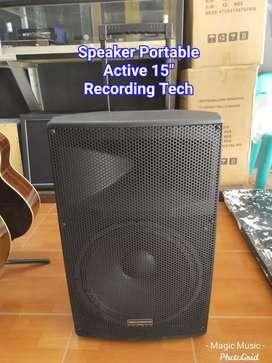 Speaker Portable Aktif 15 inch Wireless Mic