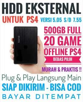 HDD 500GB Bonus 20 Game PS4 Mrh Harganya Mantap Bebas Pilih