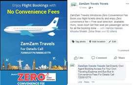 Flight Booking Zero Convence Fees