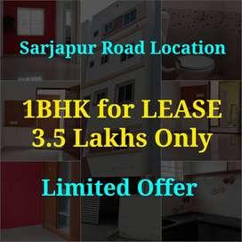 No Brokerage 1BHK for LEASE /RENT Sarjapura Road Suncity Layout
