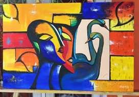 Krishna and Radha Abstract art