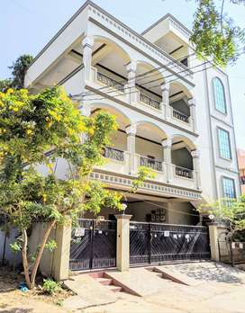 Independent house G+2+P with 300 sq.yds - 6 flats -  Rs.65,000 rental