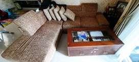 Sofa L Putus Cokelat