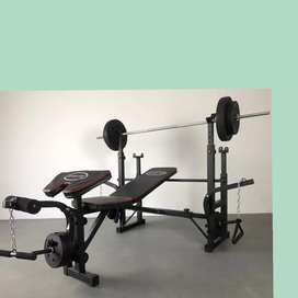 multi gym bench press id-783 beban 40kg home gym