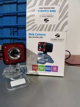 Zebronics Webcam with Bill and guarantee card !!