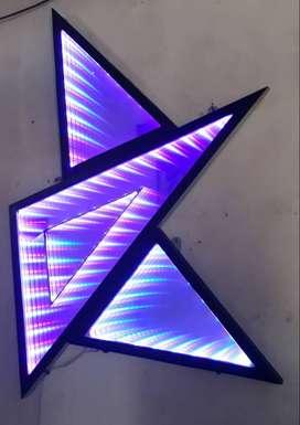 cermin lampu 3d