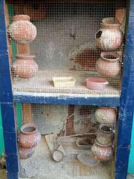 Love birds wooden cage  sale