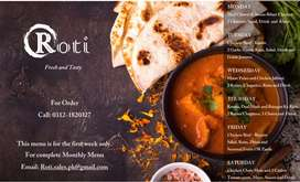 ROTI (food service, Daily meals, corporate orders, catering services)