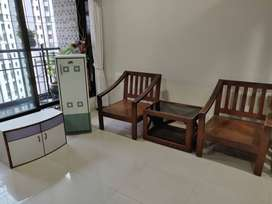 Teakwood chairs and cabinet for sell for RS 9000 Total