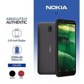 Murah new HP android Nokia C1 grs resmi 1th