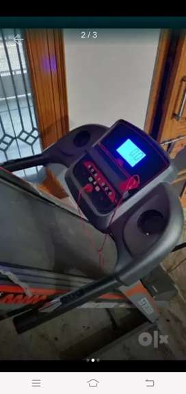 Electronic treadmill 1.25 horse power motor