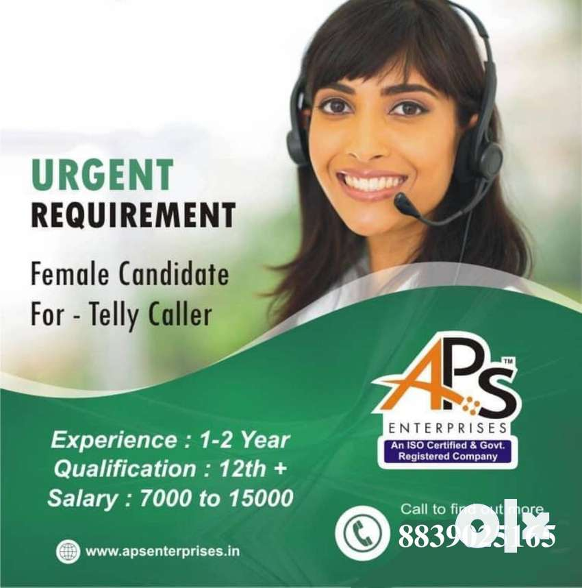 Female tally caller required with one year experience 0