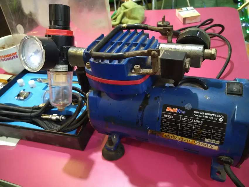 Compressor airbrush mini Merk MultiPro MC-102-MPAB + Set Pen Airbrush