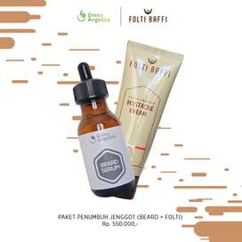 Penebal Brewok dan Kumis Terbaik Mujarab Paket Folti Baffi&Beard Serum
