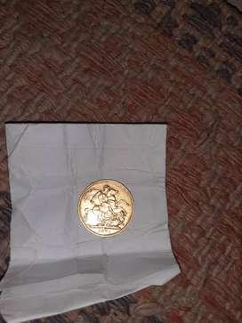 Victoria gold antique coin