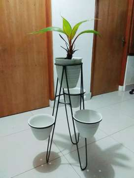 Stan pot cabang mini isi 4 pot