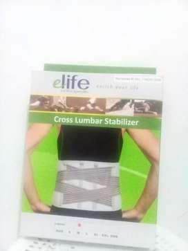 Korset pinggang / korset kesehatan /saraf kejepit / elife cross lumbal