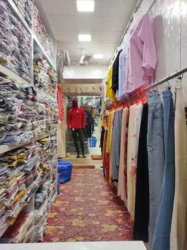Sales girl at garment shop