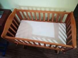 Mee n moms Wooden Cradle for sale