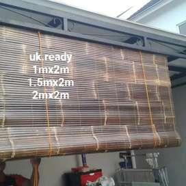 Tirai kulit bambu wulung