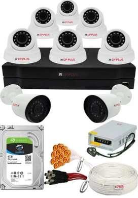 CCTV camera 4 channel set up