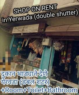 Double shutter kirana Shop with ready furniture