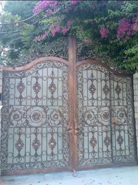 Wrought iron pure mixed steel Gate
