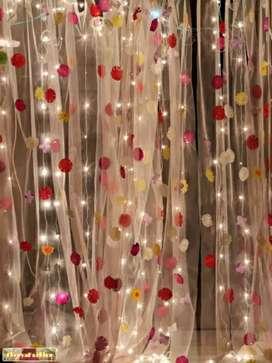 Beautiful flower curtain