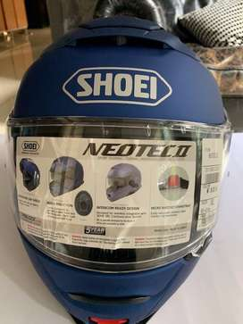 helm modular Shoei neotec II size XL , warna blue matte metallic