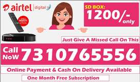 Free Airtel Dth 1 month SD Box Airtel tv tata sky All over india