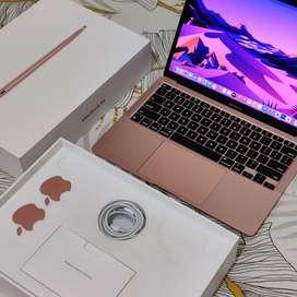 Macbook Air M1 Gold High Spek 8C8G CC3 SSD 512gb resmi ibox like new