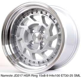 Velg kalimatan NAMROLE JD217 HSR R15X8/9 H4x100 ET30/25 SML