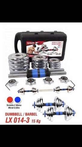 Dumbell barbel set chrome speeds LX 014-3 15 kg