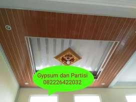Jasa pasang plafon gypsum, plafon pvc, partisi/sekat ruangan