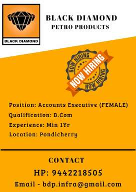Female Accounts assistant