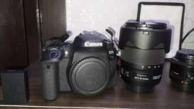 Canon 77D with 50mm 1.8 and 18-135mm