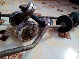 20Kg set dumbbell and two bar and no digital payment please only cash