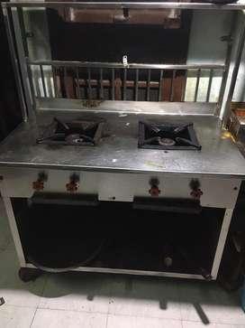 ₹13200. 2 burner cooking bhatti/cooking range /6months old