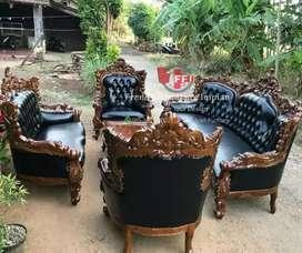 Sofa tamu/kursi duduk ukir tebal satu set