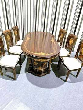 Meja makan salina kursi 6
