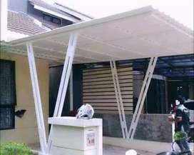 @52 canopy minimalis rangka tunggal atapnya alderon pvc bikin nyaman