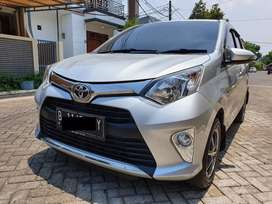 Toyota calya type G silver 2017 sangat gress dan terawat