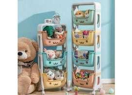 Rak Roda boneka mainan / stand hanger tempat penyimpanan mainan anak