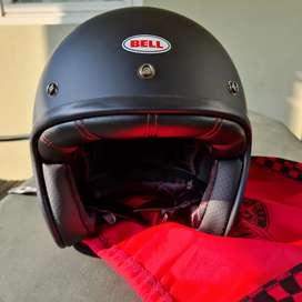 Bell Custom 500 BLACK MATTE | Helm Half Face Original Bell