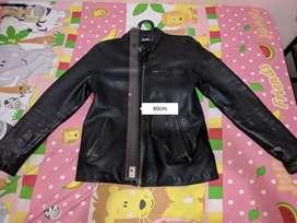 Jaket kulit asli slimfit anti bakar