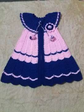 Crochet sweater frok for 10 years old girl
