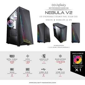 Casing Infinity Nebula V2 RGB Front Panel Case